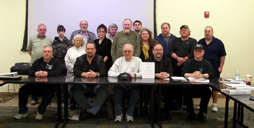 March 2015 meeting group photo of RUFOS members with guest speaker Rob Mercer front row second from left.